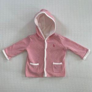 Ralph Lauren Pink Striped Reversible Jacket 3m